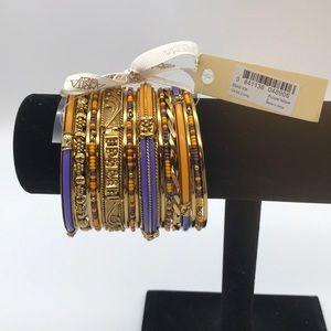 AMRITA SINGH multicolored 18 pieces Bracelets New